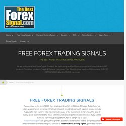 Get Signals for Forex Trading from TheBestForexSignal.com