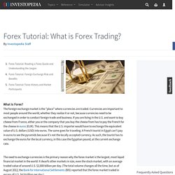 Forex Tutorial: What is Forex Trading?