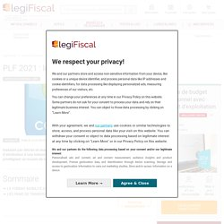 PLF 2021 : le forfait mobilité porté à 500 € LégiFiscal