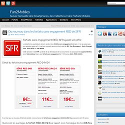 Forfaits sans engagement RED, SFR ajuste son offre
