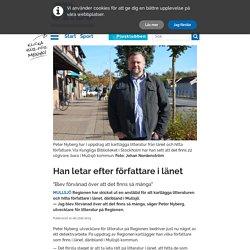 Han letar efter författare i länet - Jönköpings-Posten