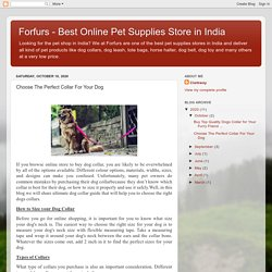 Forfurs - Best Online Pet Supplies Store in India: Choose The Perfect Collar For Your Dog