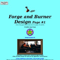 Forge and Burner Design Page #1