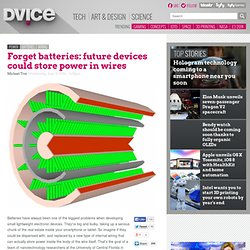 Forget batteries: future devices could store power in wires