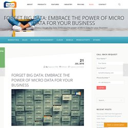 Forget Big Data: Embrace the power of Micro Data for your Business