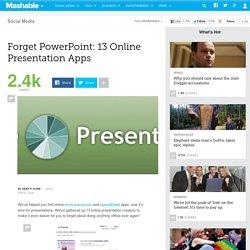 Forget PowerPoint: 13 Online Presentation Apps
