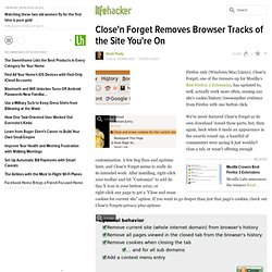 Downloads: Close'n Forget Removes Browser Tracks of the Sit