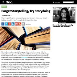 Forget Storytelling, Try Storydoing