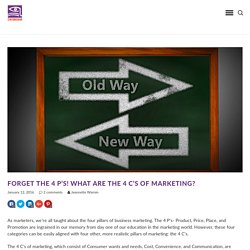 Forget the 4 P's! What Are The 4 C's of Marketing?