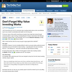 Don't Forget Why Value Investing Works (BRK-A, BRK-B, MKL)