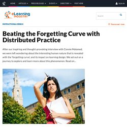 Beating the Forgetting Curve with Distributed Practice
