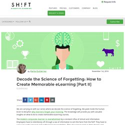 Decode the Science of Forgetting: How to Create Memorable eLearning [Part II]