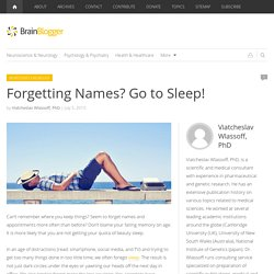 Forgetting Names? Go to Sleep!