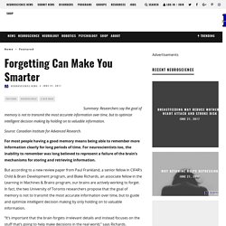 Forgetting Can Make You Smarter - Neuroscience News