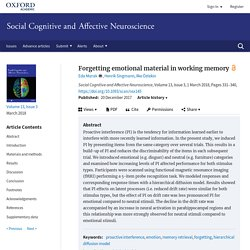 Forgetting emotional material in working memory