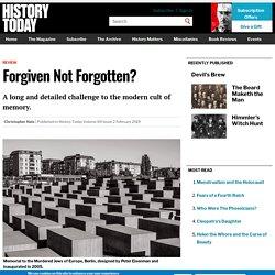 Forgiven Not Forgotten?