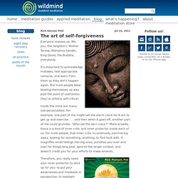 The art of self-forgiveness | Wildmind Buddhist Meditation