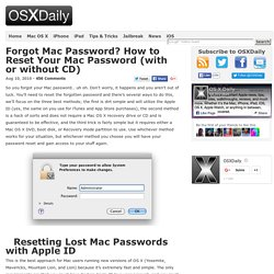 how to change mac password if you forgot it