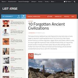 10 Forgotten Ancient Civilizations