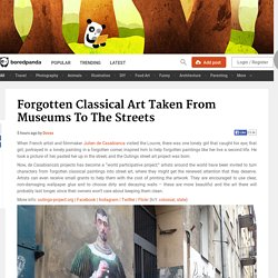 Forgotten Classical Art Taken From Museums To The Streets