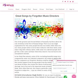 Great Songs by Forgotten Music Directors - Pinkdesk.org