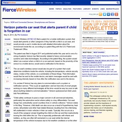 Verizon patents car seat that alerts parent if child is forgotten in car