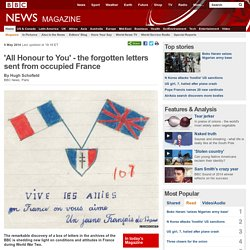 'All Honour to You' - the forgotten letters sent from occupied France