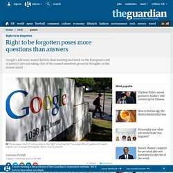 Right to be forgotten poses more questions than answers
