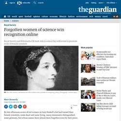 Forgotten women of science win recognition online