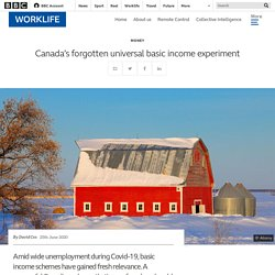 Canada's forgotten universal basic income experiment - BBC Worklife