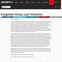 Forgotten Army, Lost Victories