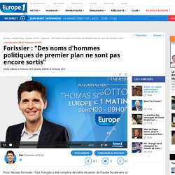 Itw Forissier - Europe1 10/02/15