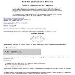 Fork-Join Development in Java SE