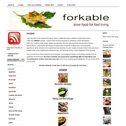 Forkable Recipes