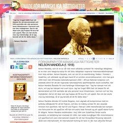 Förkämpe för mänskliga rättigheter, Nelson Mandela