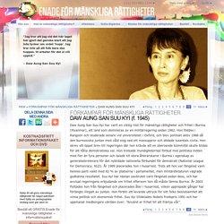 Förkämpen för mänskliga rättigheter, Daw Aung San Suu Kyi