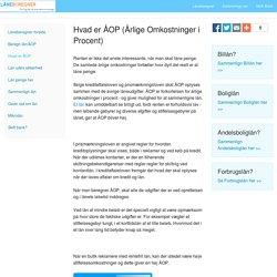 Forklaring på hvad årlig omkostning i procent er - ÅOP, på laaneberegner.dk