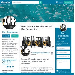 Fleet Track & Forklift Rental: The Perfect Pair