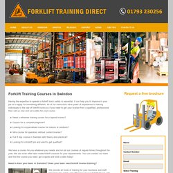 Forklift training Swindon