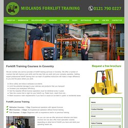 Forklift training Coventry