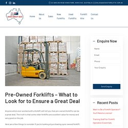 Purchase the pre-owned forklifts in NSW!