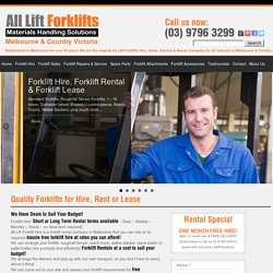 Forklifts For Hire, Rental or Lease