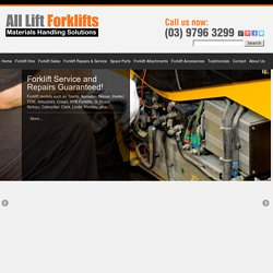 Used Forklifts For Sales & Rentals Melbourne