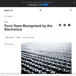 Form Team Recognized by Ars Electronica