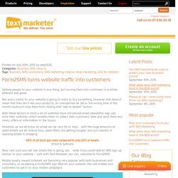 Form2SMS turns website traffic into customers