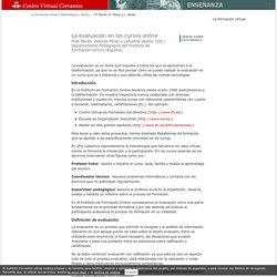 CVC: La evaluación de los cursos online.