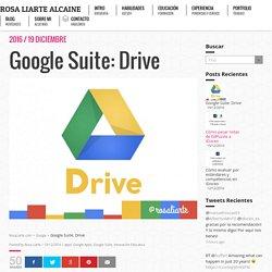 Formación de Google Suite para profesores: Drive