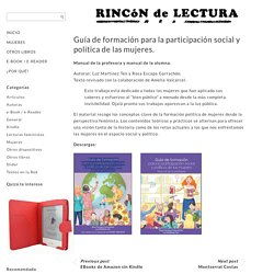 Guía de formación para la participación social y política de las mujeres.