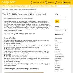 The big 5 - Så blir förmågorna enkla att arbeta med / Majemas blogg Majema - ...