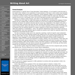 Formal Analysis - Writing About Art